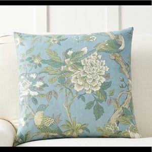 Pottery Barn Jaya Floral Bird Print Pillow Cover